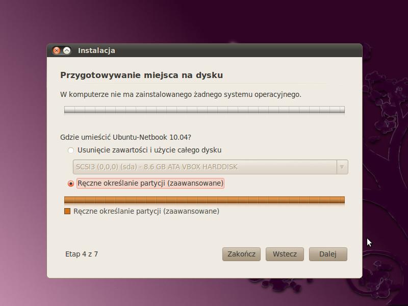 instalacja ubuntu
